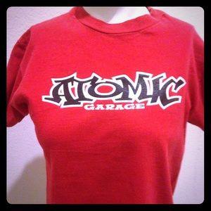 Atomic Garage red t-shirt